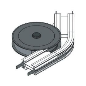 WHEEL BEND, 45R210mm WITH SAFETY  COVER FLEXMOVE CONVEYOR MODEL FL (150MM)