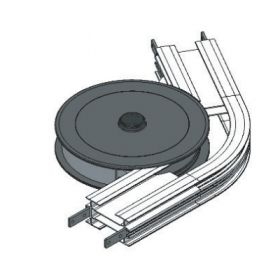 WHEEL BEND, 60R210mm WITH SAFETY  COVER FLEXMOVE CONVEYOR MODEL FL (150MM)