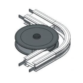 WHEEL BEND, 90R210mm WITH SAFETY  COVER FLEXMOVE CONVEYOR MODEL FL (150MM)